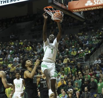 The Oregon Ducks take on the Portland State Vikings at Matthew Knight Arena in Eugene, Oregon on November 6, 2018 (Eric Evans Photography)