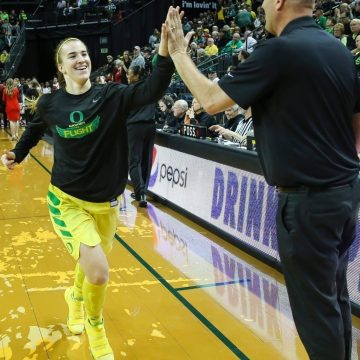 Coach Kelly Graves and Student-Athlete Sabrina Ionescu