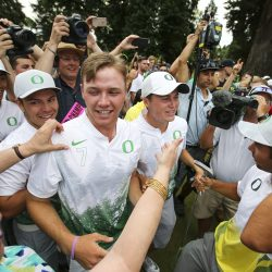 Oregon plays Texas in the final round of match play at the NCAA D1 Men's Golf Championships held at the Eugene Country Club in Eugene, Oregon on June 1, 2016 (Eric Evans Photography)