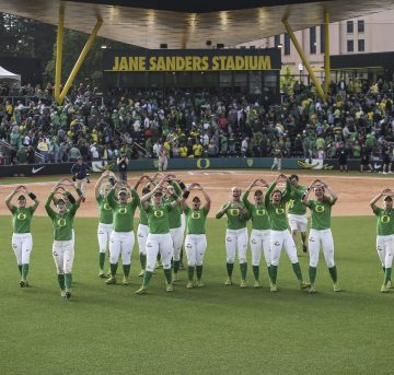 Women's Softball at Jane Sanders Stadium in Eugene, Oregon