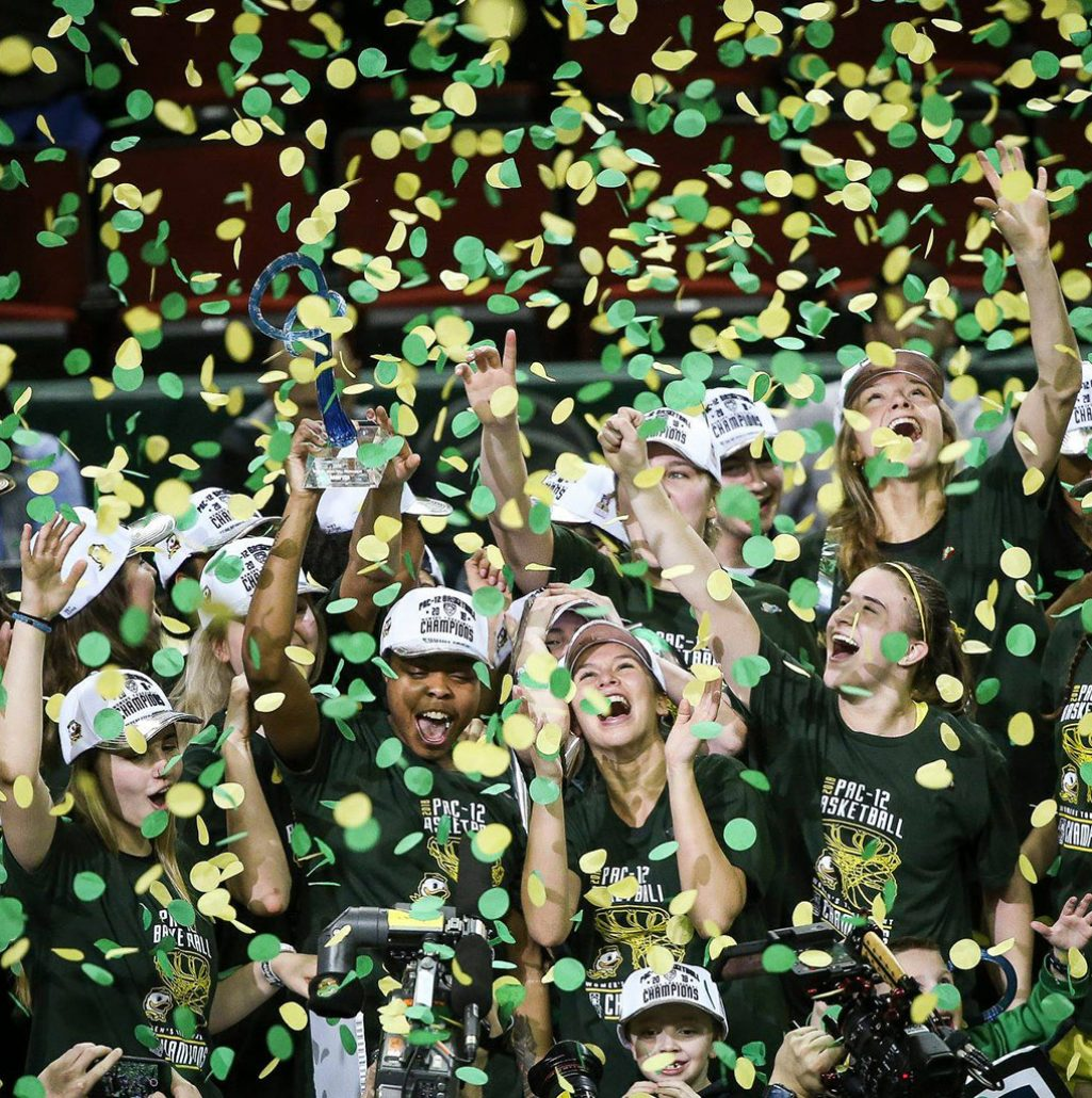 Women's Basketball Pac 12 Champions at the University of Oregon